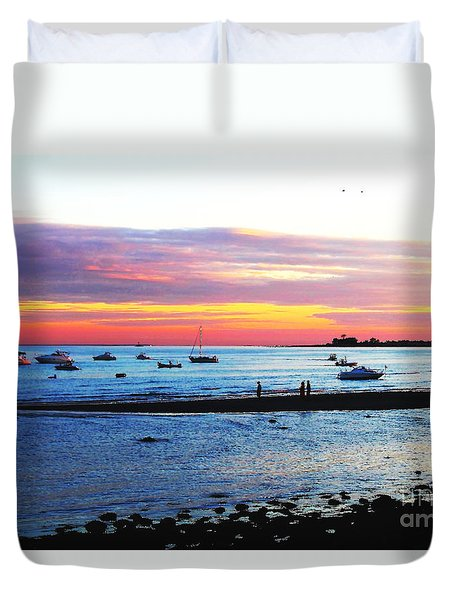 Duvet Cover featuring the photograph Pool Party by Jesse Ciazza