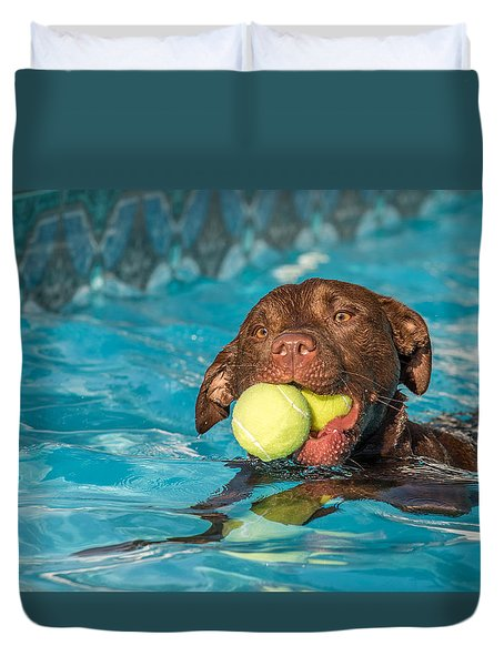 Pool Time Duvet Cover by Eleanor Abramson