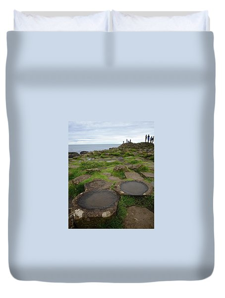 Pools On The Giant's Causeway Duvet Cover