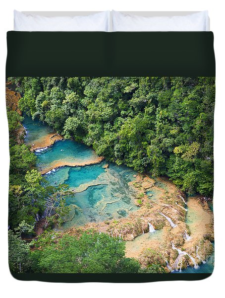 Pools Panorama Duvet Cover by Yuri Santin