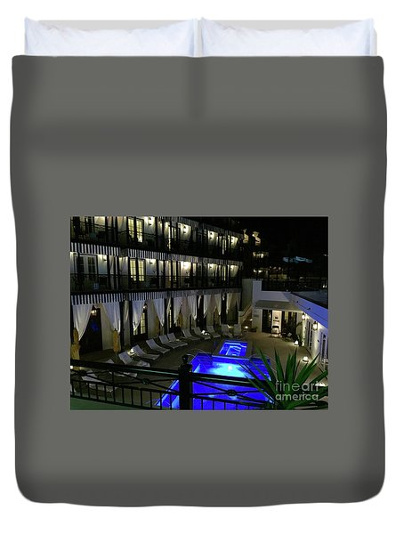 Poolside At The Pearl Duvet Cover