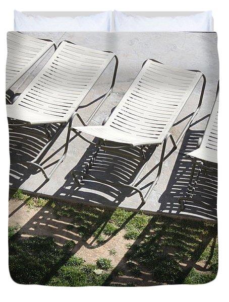 Poolside Duvet Cover by Lauri Novak