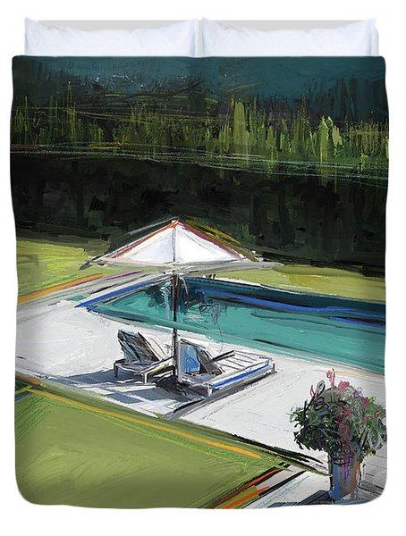 Poolside Duvet Cover