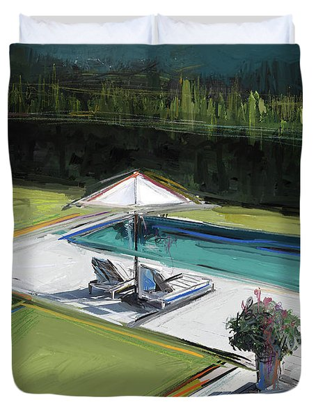 Poolside Duvet Cover