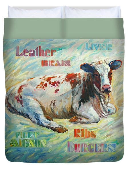 Poor Miss Bessie Duvet Cover