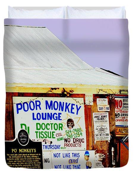 Poor Monkey's Juke Joint Duvet Cover