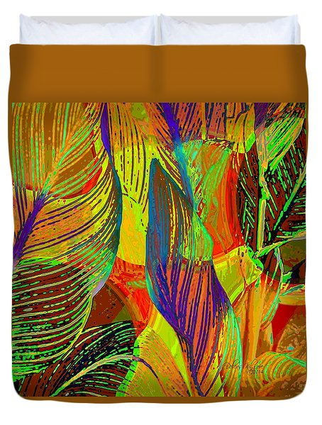 Pop Art Cannas Duvet Cover