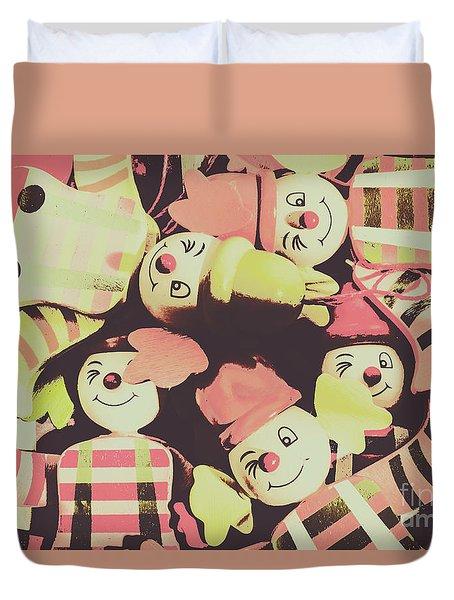 Duvet Cover featuring the photograph Pop Art Clown Circus by Jorgo Photography - Wall Art Gallery