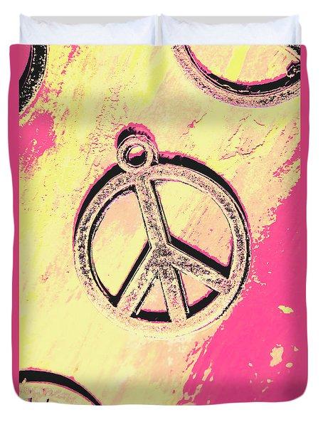 Pop Art In Peace Duvet Cover