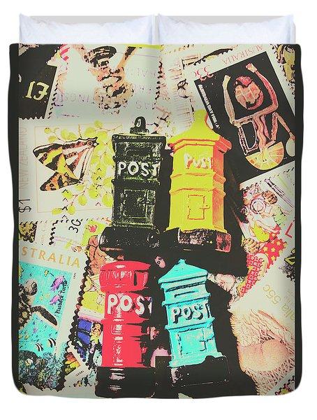 Pop Art In Post Duvet Cover