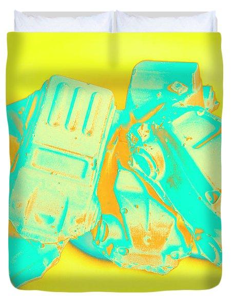 Pop Art Pileup Duvet Cover