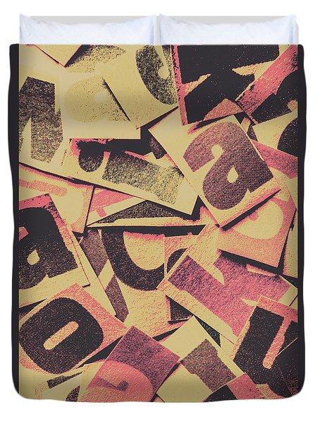 Pop Art Press Duvet Cover