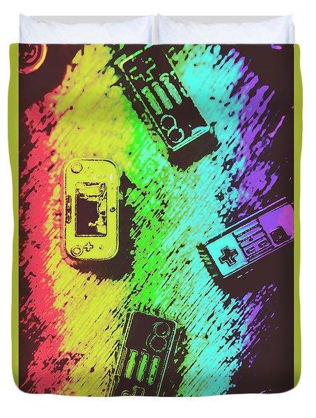 Pop Art Video Games Duvet Cover