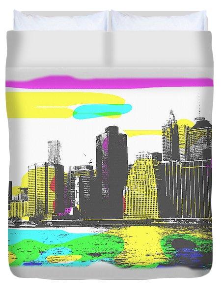 Pop City Skyline Duvet Cover