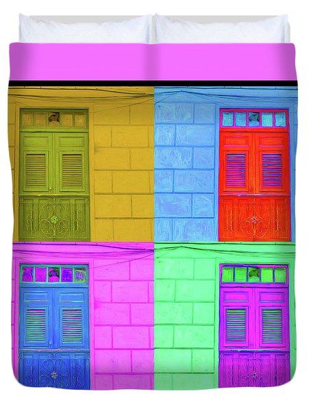 Pop Doors Duvet Cover