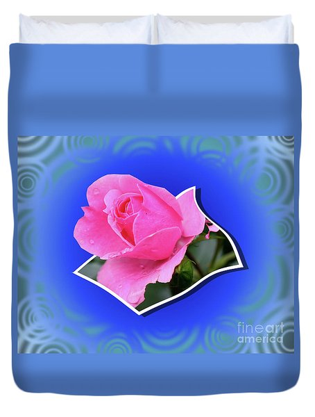 Duvet Cover featuring the photograph Pop Out Rosebud by Smilin Eyes  Treasures