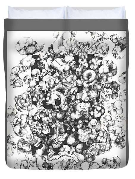 Popcorn Duvet Cover by Melinda Dare Benfield
