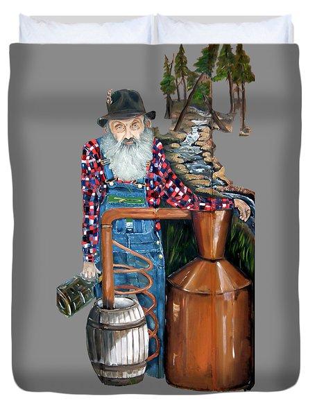 Popcorn Sutton Moonshiner -t-shirt Transparrent Duvet Cover