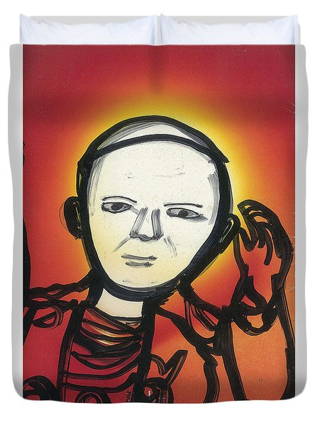 Pope John Paul 2 Duvet Cover