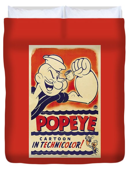 Popeye Technicolor Duvet Cover
