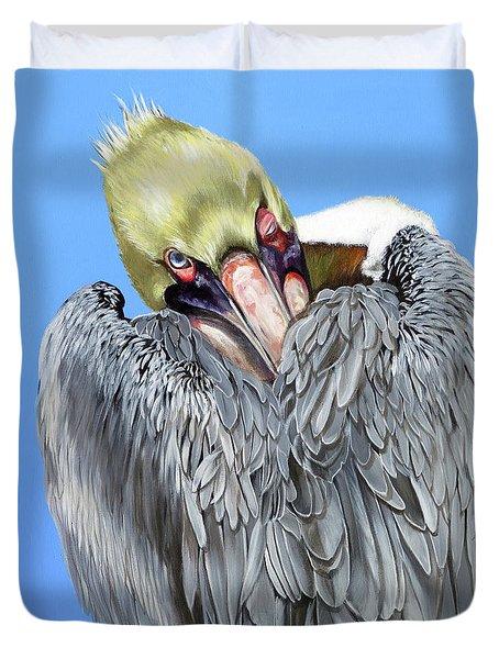 Popeye The Pelican Duvet Cover