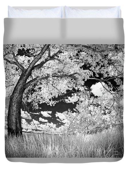 Poplar On The Edge Of A Field Duvet Cover