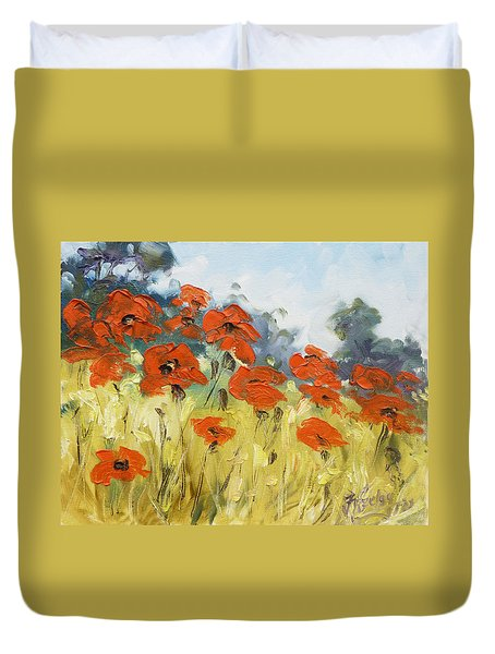 Poppies 3 Duvet Cover