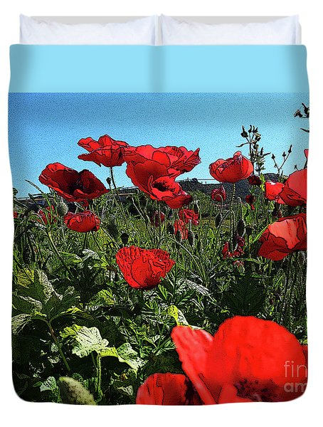 Poppies. Duvet Cover
