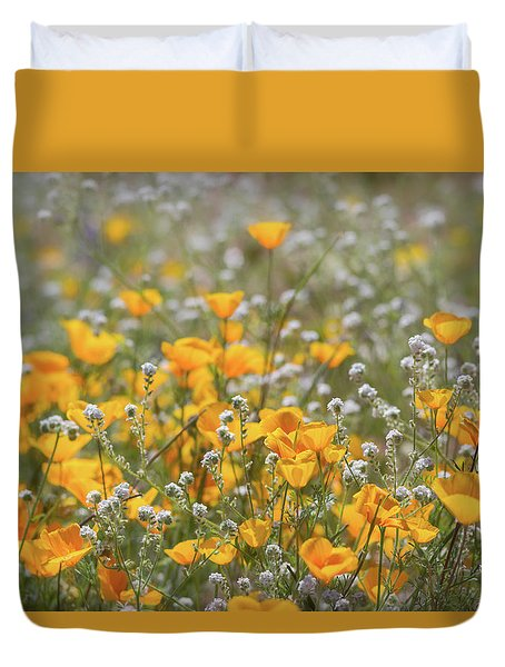 Duvet Cover featuring the photograph Poppies Fields Forever  by Saija Lehtonen
