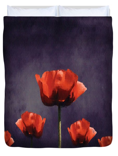 Poppies Fun 01b Duvet Cover