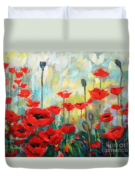 Poppies In Bloom Duvet Cover