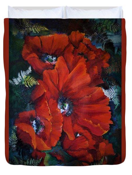 Poppies In Light IIi Duvet Cover