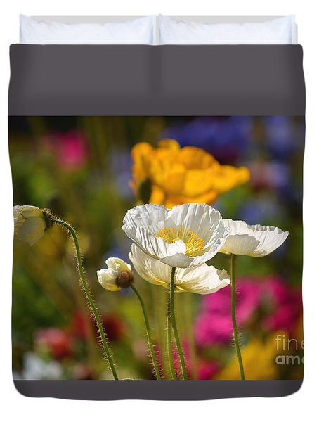 Poppies In The Spring Duvet Cover