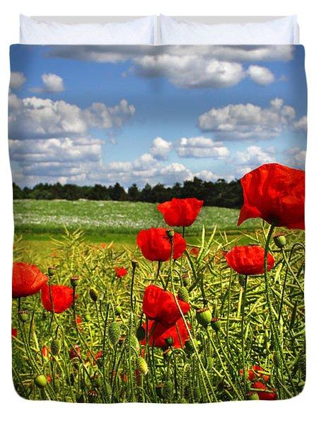 Poppies Duvet Cover by Ken Brannen