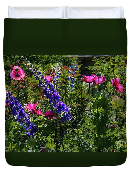 Poppies Duvet Cover by Lisa L Silva