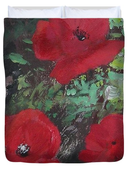 Poppies  Duvet Cover by Lizzy Forrester
