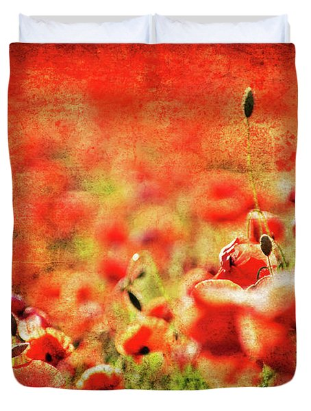 Poppies Duvet Cover by Meirion Matthias