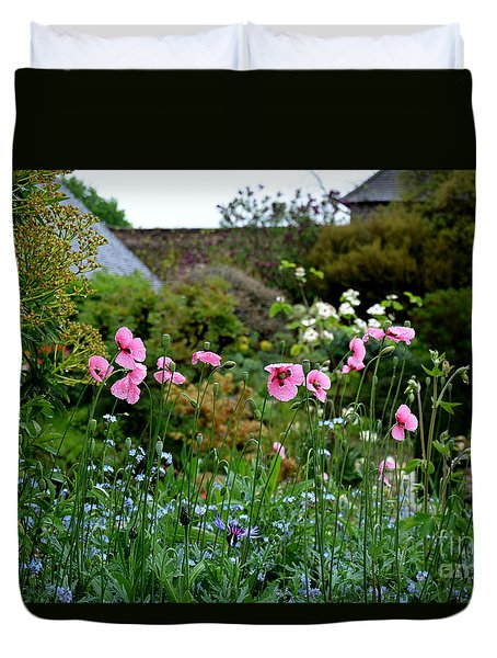 Poppies Of The Great Dixter Duvet Cover by Tanya Searcy