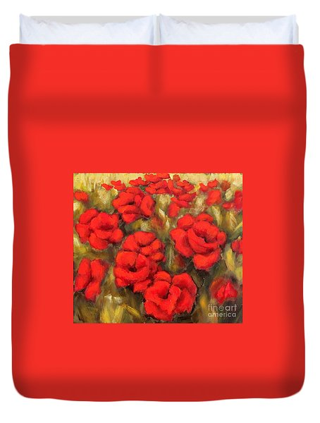 Poppies Passion Fragment Duvet Cover