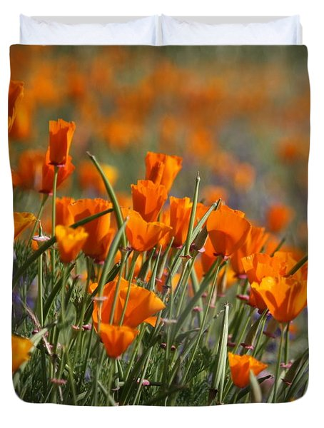 Duvet Cover featuring the photograph Poppies by Patrick Witz