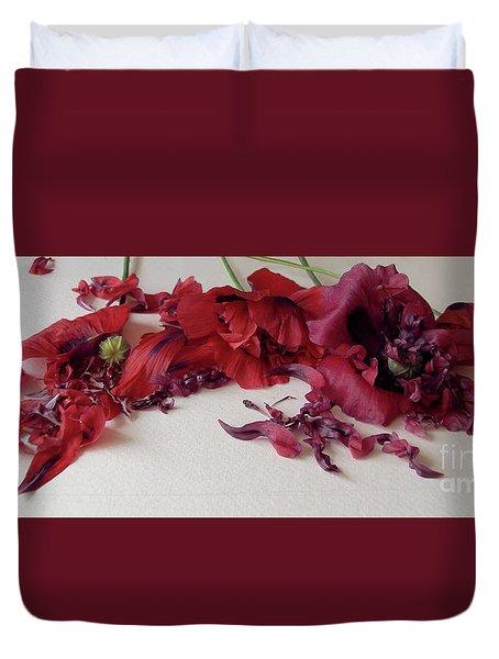 Poppies Petals Duvet Cover