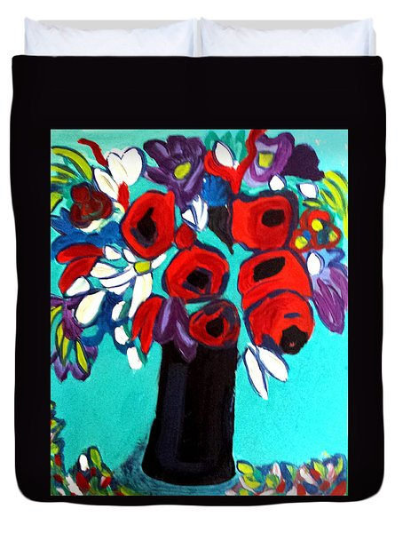 Poppies Red Duvet Cover