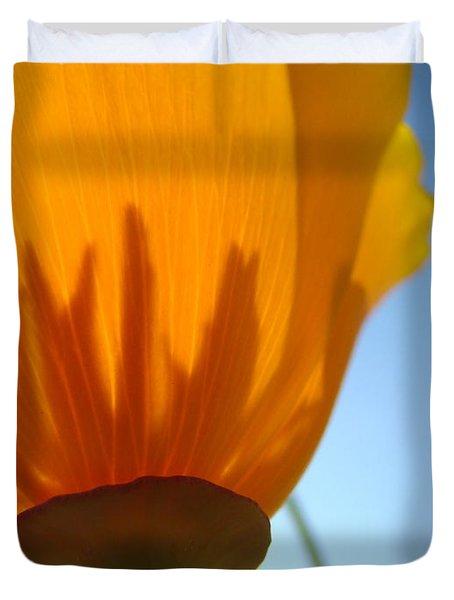 Poppies Sunlit Poppy Flower 1 Wildflower Art Prints Duvet Cover by Baslee Troutman