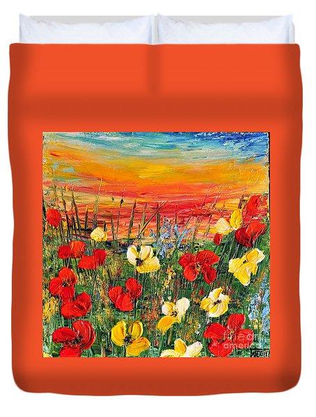 Poppies Duvet Cover by Teresa Wegrzyn