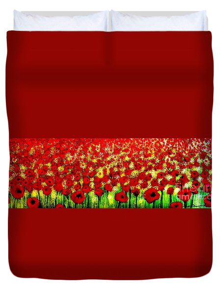 Poppies Duvet Cover by Tim Townsend