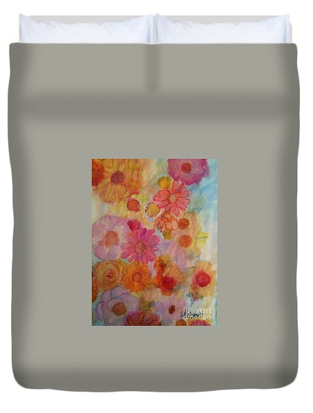 Popping Duvet Cover by Kim Nelson