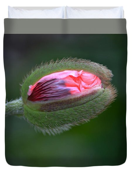 Popping Poppy. Duvet Cover
