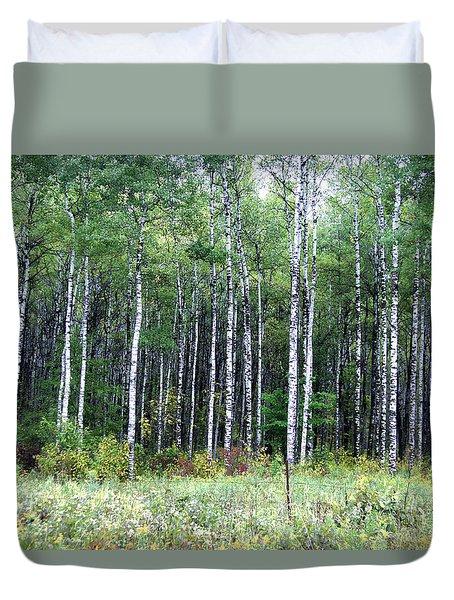 Popple Trees Duvet Cover