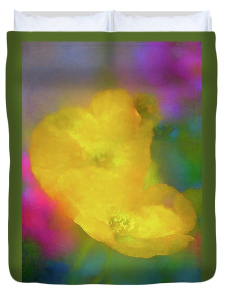 Duvet Cover featuring the photograph Poppy 28 by Pamela Cooper