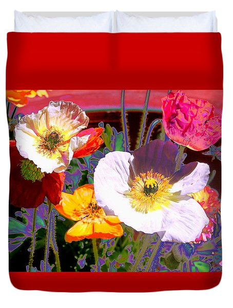 Duvet Cover featuring the photograph Poppy Abstract by M Diane Bonaparte